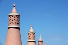 Algarve chimneys Royalty Free Stock Photography