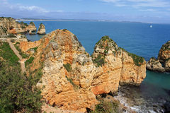 Algarve cliffs Stock Image