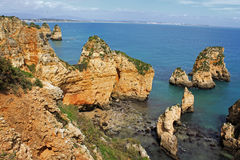 Algarve cliffs Stock Photo