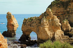 Algarve cliffs Stock Photos