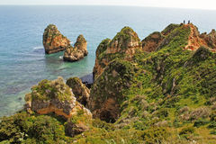 Algarve cliffs Royalty Free Stock Photography