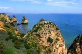 Algarve cliffs Royalty Free Stock Photos