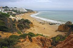 Algarve coast, Albufeira, Portugal Stock Photography