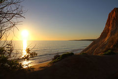 Algarve Coast and Beach. Sunset at Algarve Coast and Beach, Portugal Royalty Free Stock Photography
