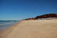 Algarve Coast and Beach Portugal. Seascape from rocha baixinha beach in Algarve Portugal Stock Photo