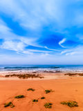 Algarve coast. Beautiful beach in the Algarve coast, ocean Atlantic, Portugal Royalty Free Stock Images