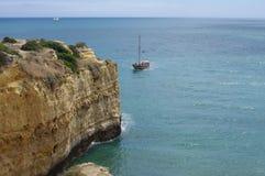 Algarve coast. Cliffs along Algarve coast in Portugal Royalty Free Stock Images