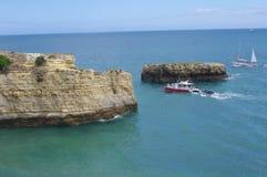 Algarve coast. Cliffs along Algarve coast in Portugal Stock Photo