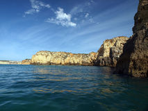 Algarve coast between Lagos and the Cap Vincent Stock Photography