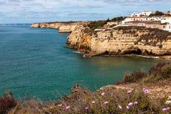 Algarve Coast near Carvoeiro Portugal Royalty Free Stock Photo