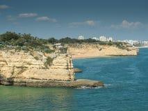 Algarve coast near the city Armação de Pêra Royalty Free Stock Photo