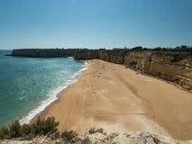 Algarve coast near the city Armação de Pêra Stock Photo