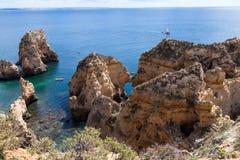 Algarve coast near Lagos Royalty Free Stock Photos