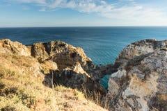 Algarve coast near Lagos, Portugal Royalty Free Stock Photos