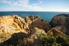 Algarve coast near Lagos, Portugal Royalty Free Stock Image