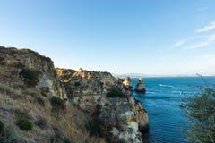 Algarve coast near Lagos, Portugal Stock Photos