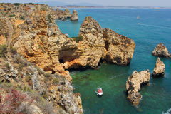Algarve coast near Ponta da Pietade Royalty Free Stock Photos