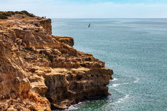 Algarve coast sand cliffs Portugal Royalty Free Stock Photo