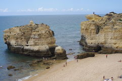 Algarve coast. Sao Rafael beach west of Albufeira along Algarve coast Royalty Free Stock Photo
