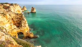Algarve coast South Portugal. Algarve Rocky coast South Portugal Stock Photography