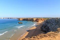 Algarve. The coastline of the Algarve in Sagres royalty free stock images