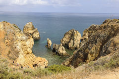 Algarve. Colourful Rock formation in The Algarve Royalty Free Stock Photography