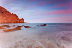 algarve da lagos luzportugal praia arkivbild