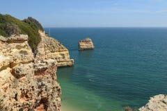 Algarve falezy Zdjęcia Stock