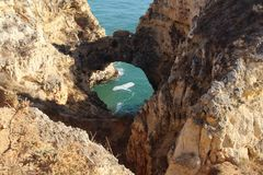 Algarve, the famous region in Portugal. royalty free stock photography