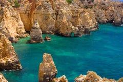 Algarve-Felsen Lizenzfreie Stockbilder