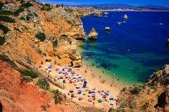 Algarve-Felsen lizenzfreie stockfotografie