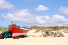 Algarve Fishing Boat Royalty Free Stock Images