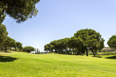 Algarve golf course scenery, famous golf and nature destination. Portugal Stock Images
