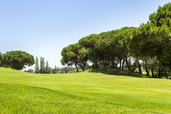 Algarve golf course scenery, famous golf and nature destination Stock Photos