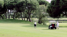 Algarve golf course scenery, golf and nature destination, Portugal. stock footage