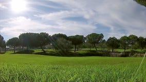 Algarve golf course scenery, Portugal. stock footage