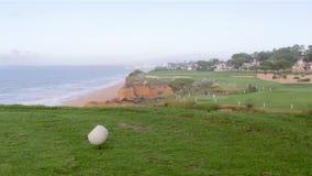 Algarve golf course scenery at Ria Formosa stock footage