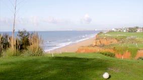 Algarve golf course scenery at Ria Formosa stock video