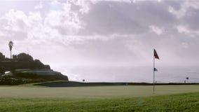 Algarve golf course scenery seascape. Portugal stock video