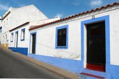 Algarve Häuser Stockbild
