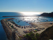 algarve hamn portugal arkivfoton