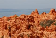 Algarve het Strand van Falésia Stock Fotografie