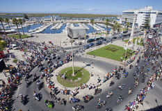 Algarve International Motorcicle Rally. Faro, Portugal - July 17: Motorcyclists in the 30th International Motorcycle Rally, this year with 30 thousands royalty free stock images