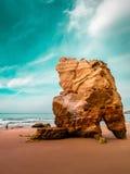 Algarve kust Arkivfoto