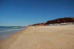 Algarve Kust en Strand Portugal Stock Foto