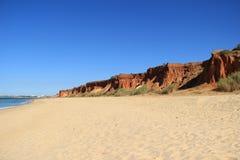 Algarve Kust en Strand Portugal Stock Afbeelding