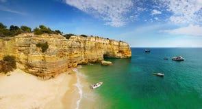 Algarve, kust och strand, Portugal Arkivbild