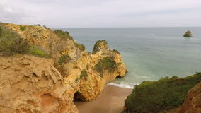 Algarve Kust Portugal stock videobeelden