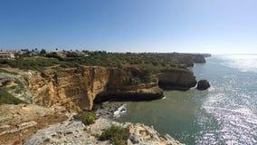 Algarve Kust Portugal stock videobeelden