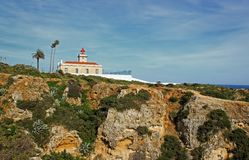 Algarve lighthouse in Lagos Royalty Free Stock Image